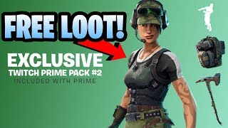 *Exclusive* Fortnite Twitch Prime Pack 2 Gear