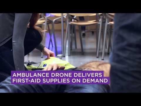 Ambulance Drone Delivers First-Aid Supplies on Demand
