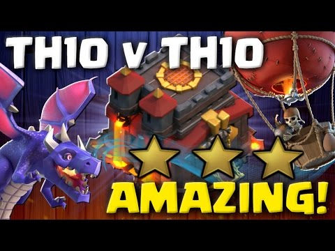 AMAZING! Best TH10 3 Star Attack Strategies 2017   Clash of Clans