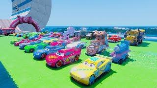 Cars 3 Fabulous McQueen Stunt Jump UnderWater Ramps Jackson Storm Cruz Ramirez 3D Models Tow Mater