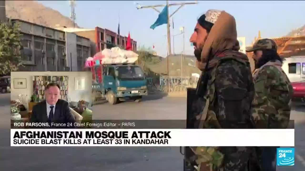 Download Afghanistan mosque attack: Suicide blast kills at least 33 in Kandahar • FRANCE 24 English