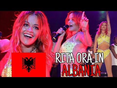 Rita Ora Dancing Traditional Albanian Dance - 03.06.2018 - Tirana (ALBANIA)