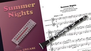 summer nights, from grease, for clarinet duet - youtube  youtube
