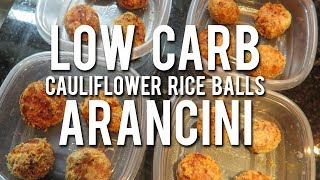 LOW CARB ARANCINI | Cauliflower Rice Balls