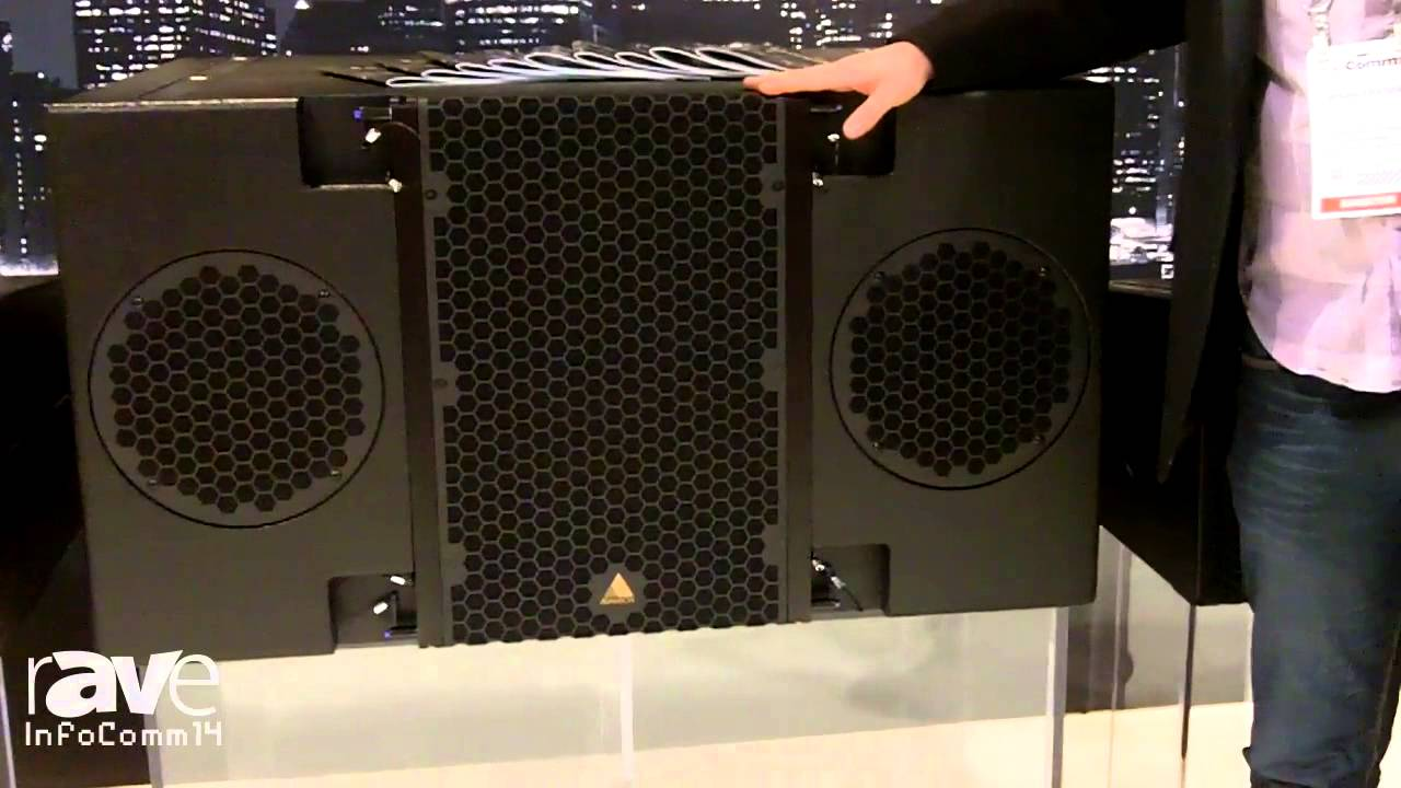 Infocomm 2014 Adamson Shows Its E218 Subwoofer Youtube