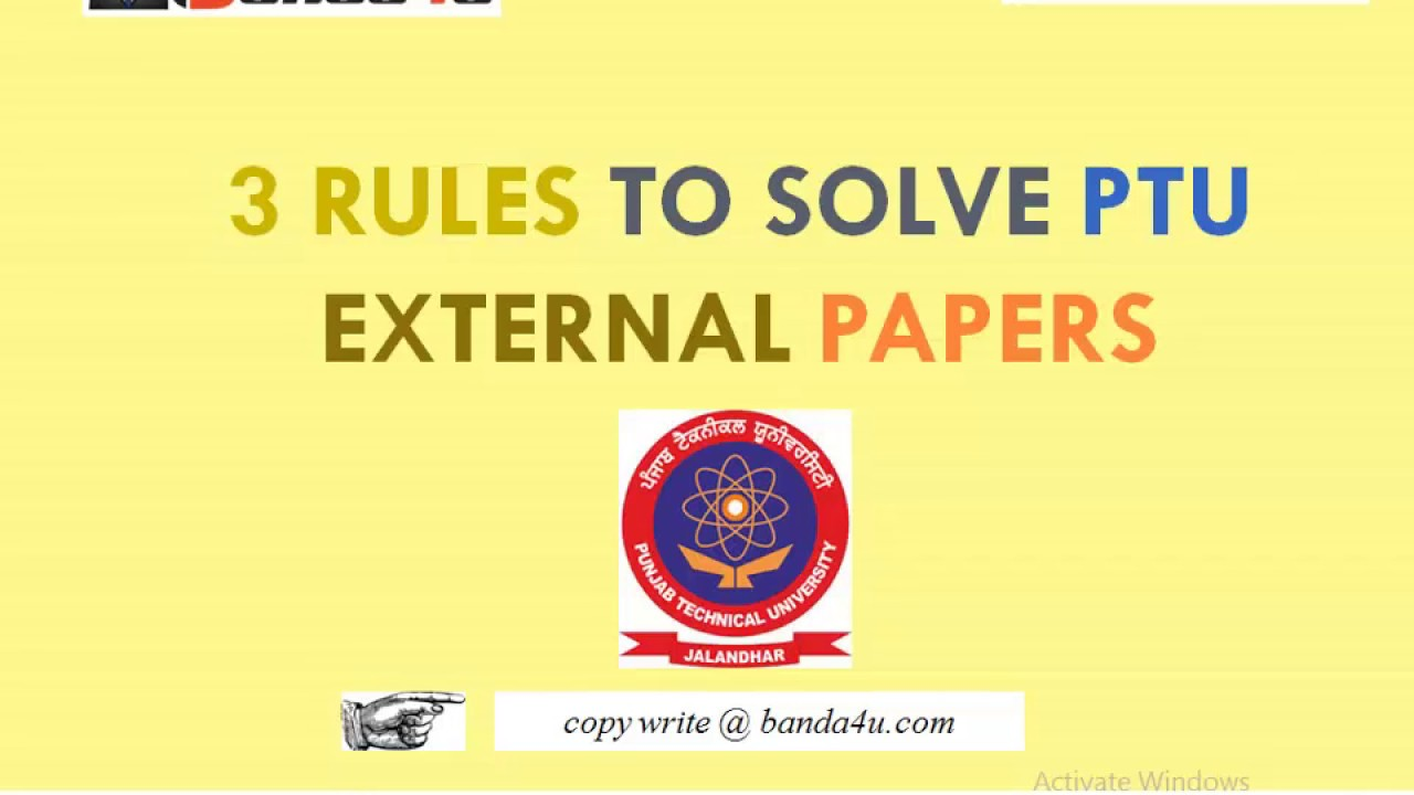 How to score good Marks in PTU external exams - in Hindi || 3 Rules to  attempt paper