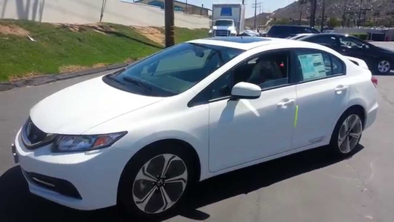 2014 Honda Civic Si White Sedan Demo Walkaround
