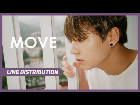 BTS (방탄소년단) - Move (이사) Line Distribution (Color Coded)