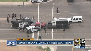 Stolen truck stopped by Mesa SWAT team
