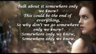 Somewhere Only We Know lyrics, Max Schneider and Elizabeth Gillies