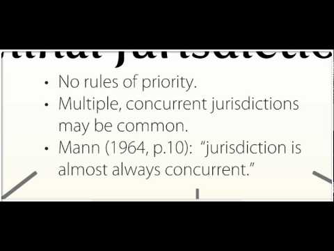 Law of Jurisdiction, part 1