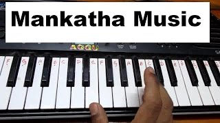 Learn (How) to play Mankatha Tamil Movie theme Music on keyboard