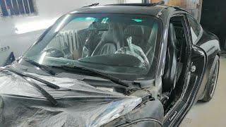 Как правильно разбирать авто перед покраской ! Porsce 911 арматурка. Доп обзор повреждений. cмотреть видео онлайн бесплатно в высоком качестве - HDVIDEO
