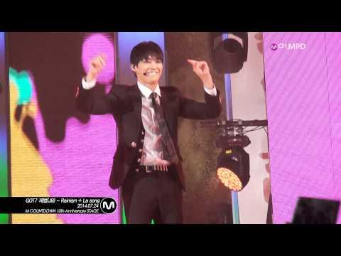 [MPD/직캠] 140724 GOT7 재범(JB) - Rainism + La song
