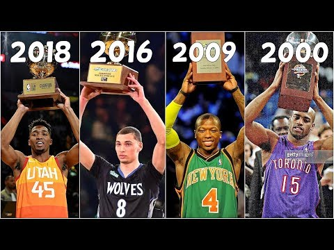 Top 10 DUNKS of NBA Slam Dunk Winners(2000-2018)