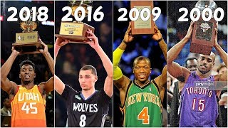 Download Top 10 DUNKS of NBA Slam Dunk Winners(2000-2018) Mp3 and Videos
