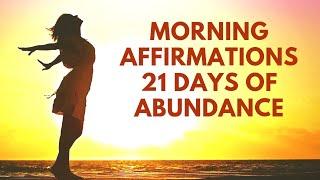 Morning Affirmations for Abundance | 21 Day Prosperity Challenge