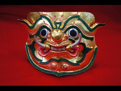 """Thai Mask applied 02 """"The Giant & Monkey"""" ,This how to. - พื้นฐานลายไทย,ลายไทย"""