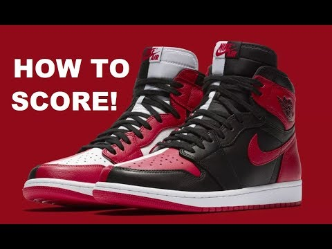 AIR JORDAN 1 HOMAGE TO HOME RETRO SNEAKER , HOW TO GET YOUR PAIR