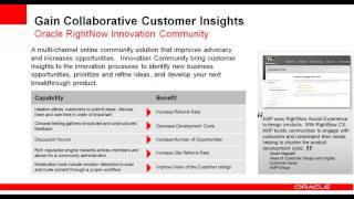 Oracle RightNow Webinar-April 11, 2013