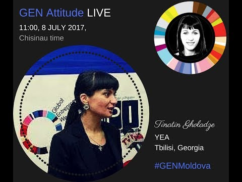 GEN Attitude with Tinatin Gholadze  from Georgia, leader of Entrepreneurs Association.