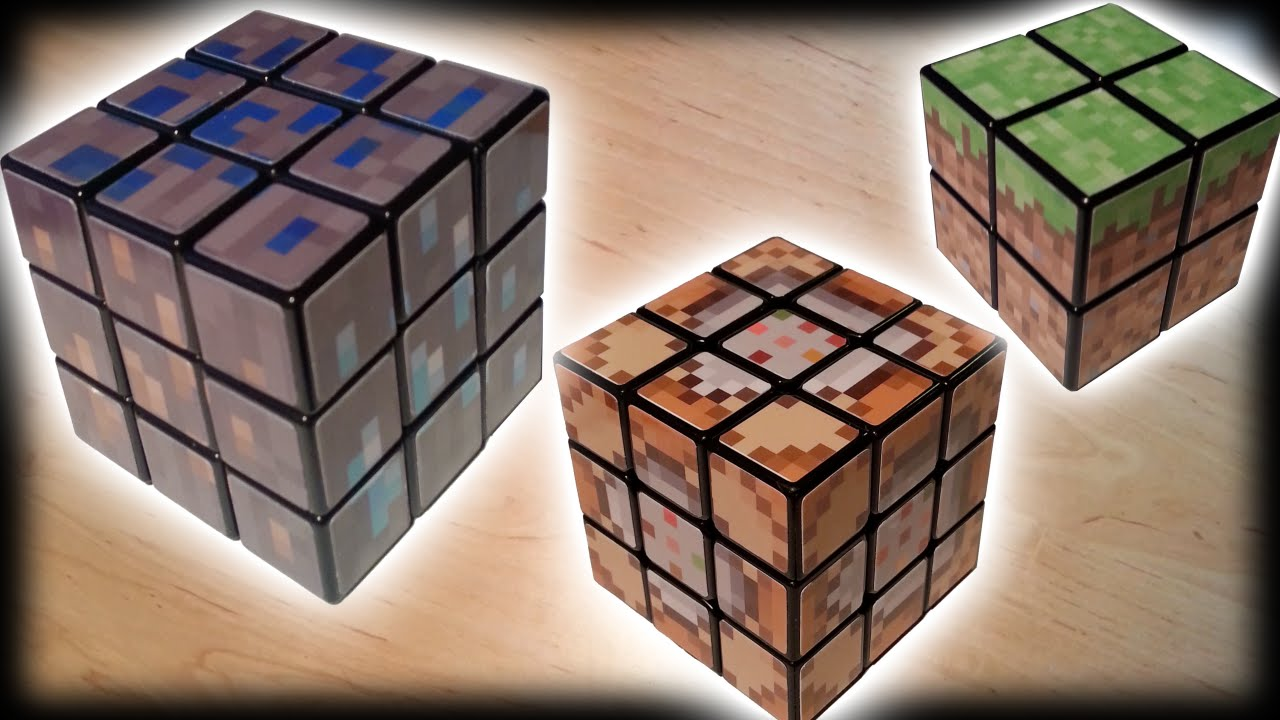 Minecraft real life rubiks cubes youtube