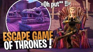 J'en ai des frissons... Escape Game of Thrones de fou sur Fortnite Créatif !