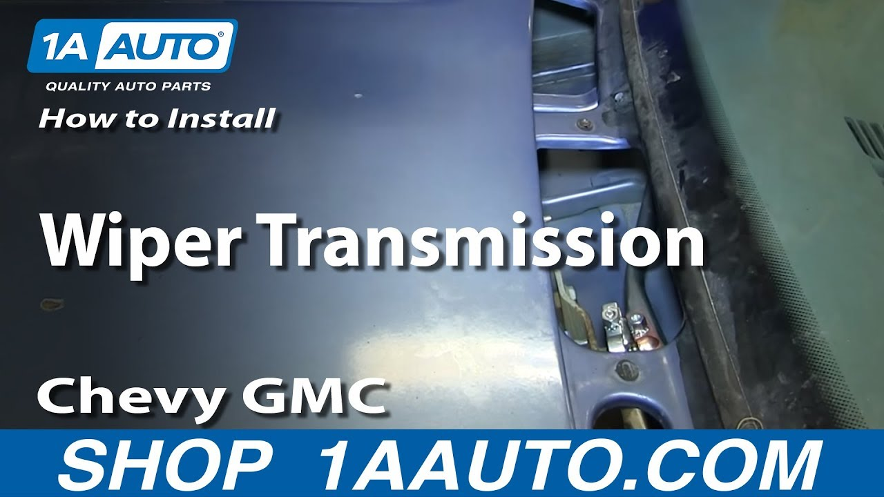 how to replace windshield wiper transmission arm 95 00 chevy tahoe [ 1280 x 720 Pixel ]