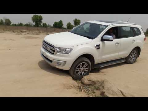 All new ford endeavour test drive.