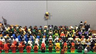 обзор всей моей коллекции минифигурок LEGO NINJAGO