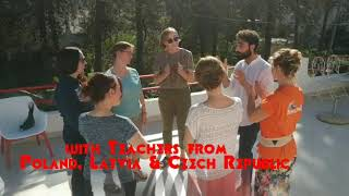 Ice breaking games - outdoor education in Soverato with JUMP and Erasmus teachers