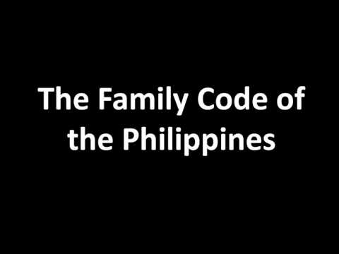 Family Code: Part I Article 1- 74