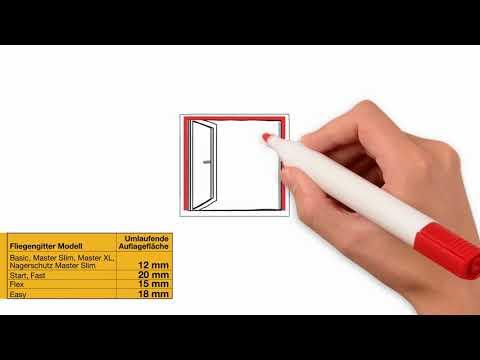 empasa Insektenschutz Fliegenschutz Fliegengitter Schiebefenster IMPULSO f/ür Fenster mit Rolladen