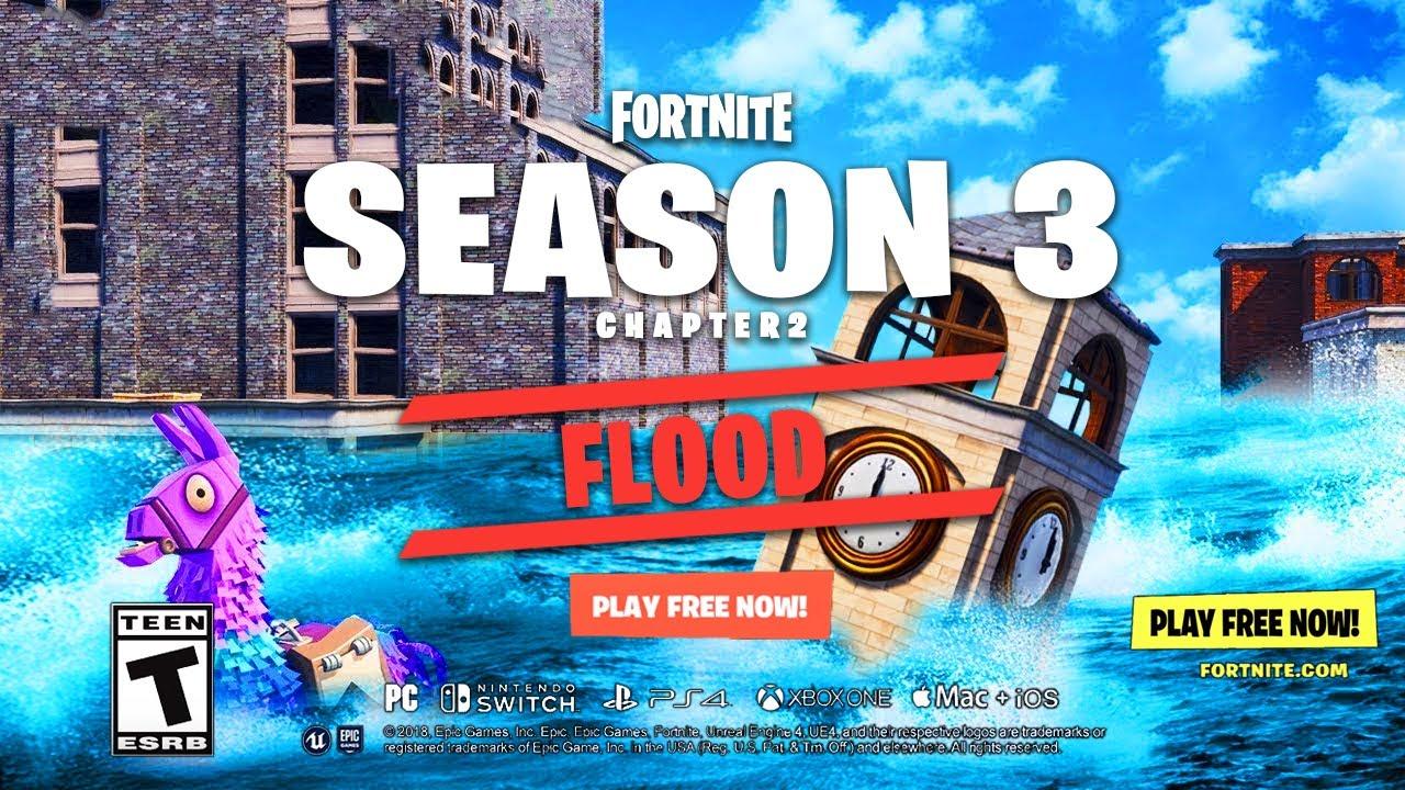 fortnite flood event trailer season 8 - evento fortnite temporada 8
