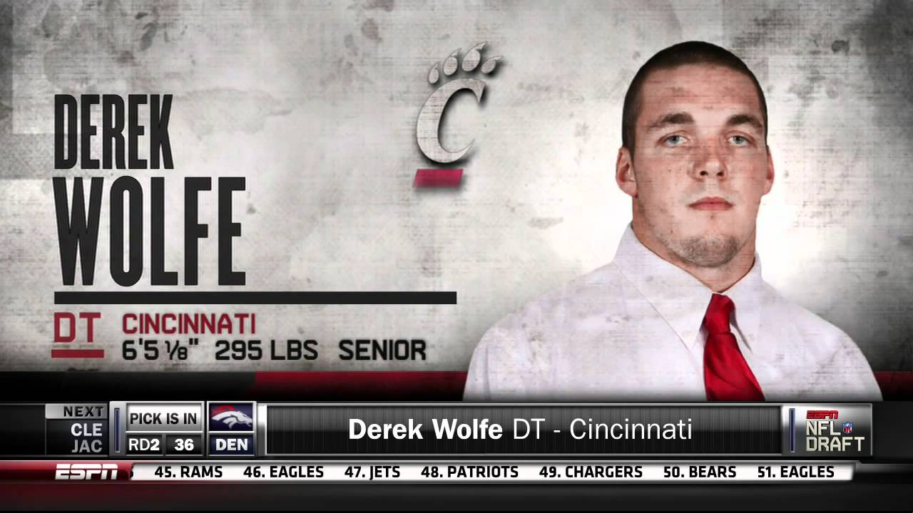 Denver Broncos Select Derek Wolfe 2012 Pick 36 2nd Round