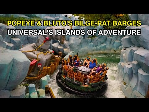 [4K] Popeye & Bluto's Bilge-Rat Barges : Universal's Islands of Adventure (FL)