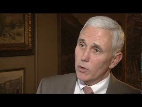 Gov. Pence Extended Interview: State Medicaid Expansion