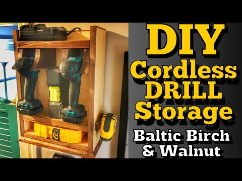 Drill Storage Cabinet |Diy Woodworking Project
