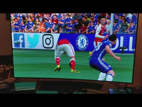 "FIFA SOCCER 2017 On OLED C6P 55"" Curved 4K TV PS4 Pro"