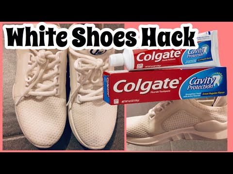 HOW TO CLEAN WHITE SHOES USING/TOOTHPASTE/COLGATE||Geraldine Dj VLogs