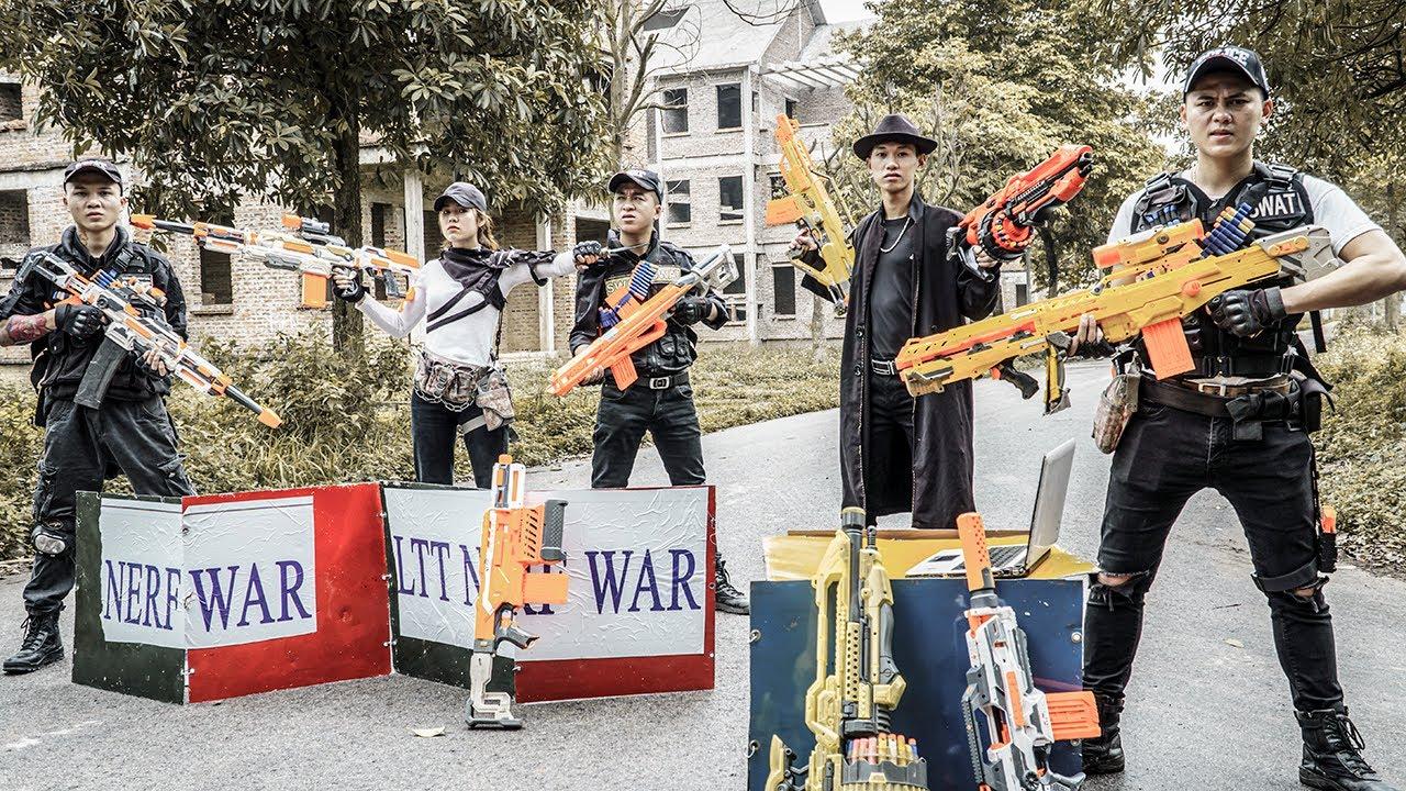 Nerf Guns War : Captain Seal Team Nerf Guns Fight Criminal Groups Bandits Diamond 2