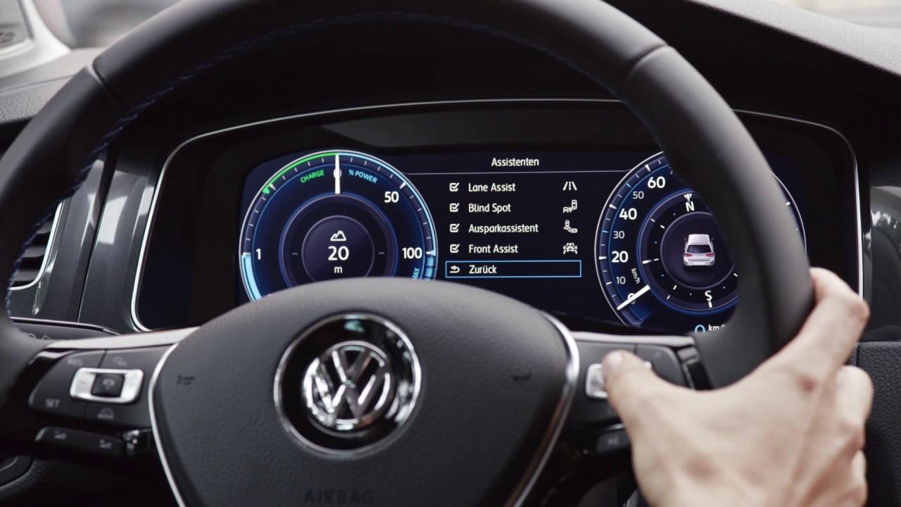 The New Volkswagen E Golf Interior Design Automototv Youtube