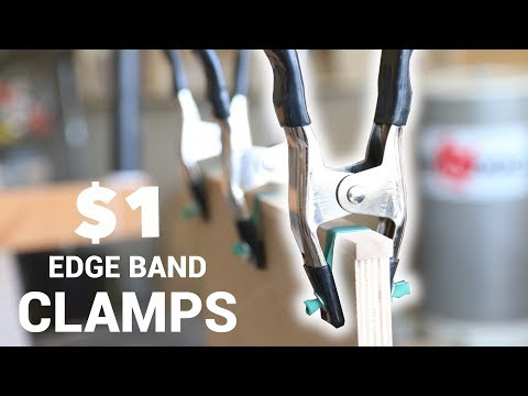 How To Make $1 Edge Banding Clamps | Woodworking Clamp Hack
