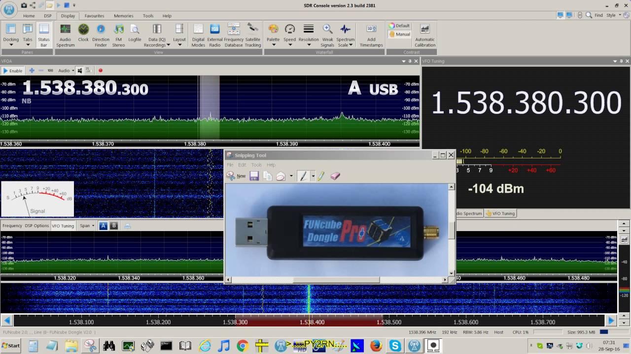 SDRPlay vs  RTL_R820T2 vs  FunCube Pro Plus (UHF 1 5GHz Inmarsat)