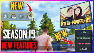 SEASON 19 TOP 5 NEW FEATURES | 1.4 Update New Features | Kumari Gamer