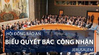 Hội đồng Bảo an biểu quyết bác  công nhận Jerusalem | VTC1