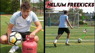 Testing A HELIUM Filled Soccer Ball! Is there any difference?!