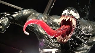 Venom and Anti-Venom were on display at Kotbukiya's Prime1 Studio E...