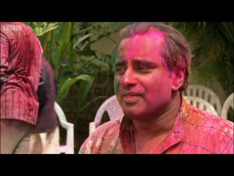 Paint fight! Sanjeev Bhaskar at the Holli Festival in India - Explore - BBC