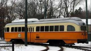Old Trams (WWII Era) in the Winter in Boston - Ashmont-Mattapan High Speed Line